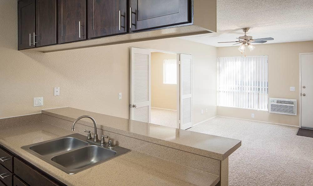 Model Apartment Home Interior At Hillside Terrace Apartments In Lemon Grove CA