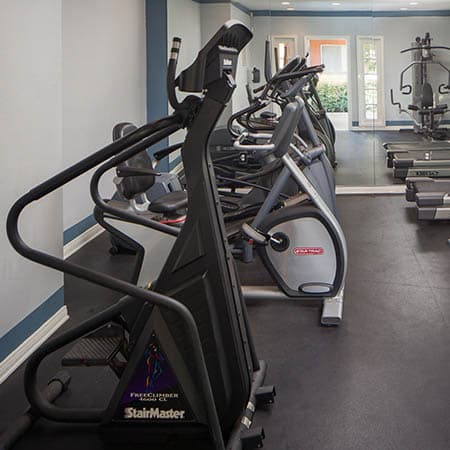 Superb fitness center at Kendallwood Apartments in Whittier