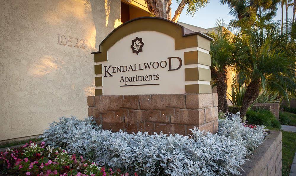 Kendallwood Apartments signage
