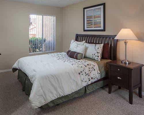 Master bedroom at Shadow Ridge Apartments in Oceanside,