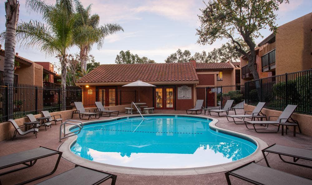 Swimming Pool at Shadow Ridge Apartments in Oceanside, CA