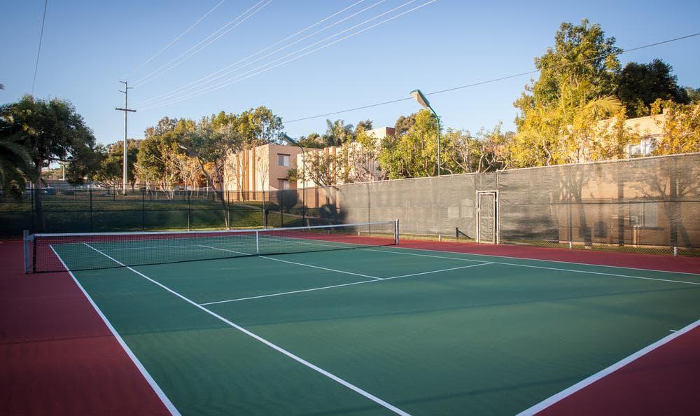 Tennis Courtyard at Shadow Ridge Apartments in Oceanside, CA