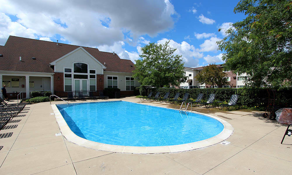Alternate View Of The Pool At Riverstone Apartments In Bolingbrook IL