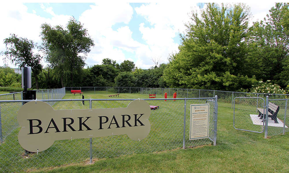 Bark park for residents of Riverstone Apartments and their pups