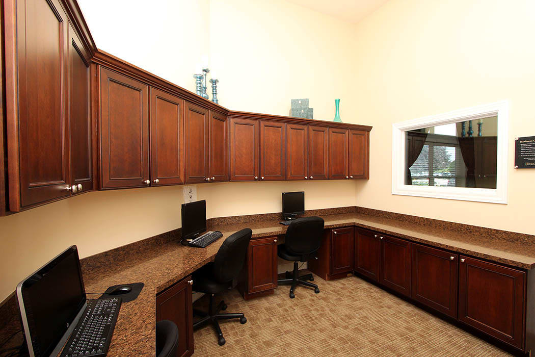 Business center at Riverstone Apartments in Bolingbrook, Illinois