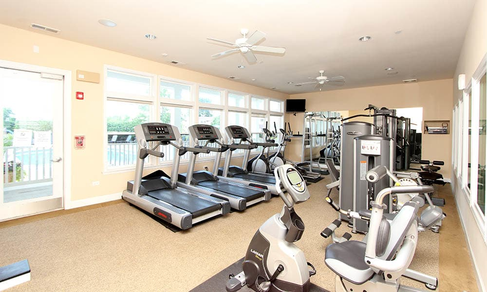 State Of The Art Fitness Center At Riverstone Apartments In Bolingbrook IL