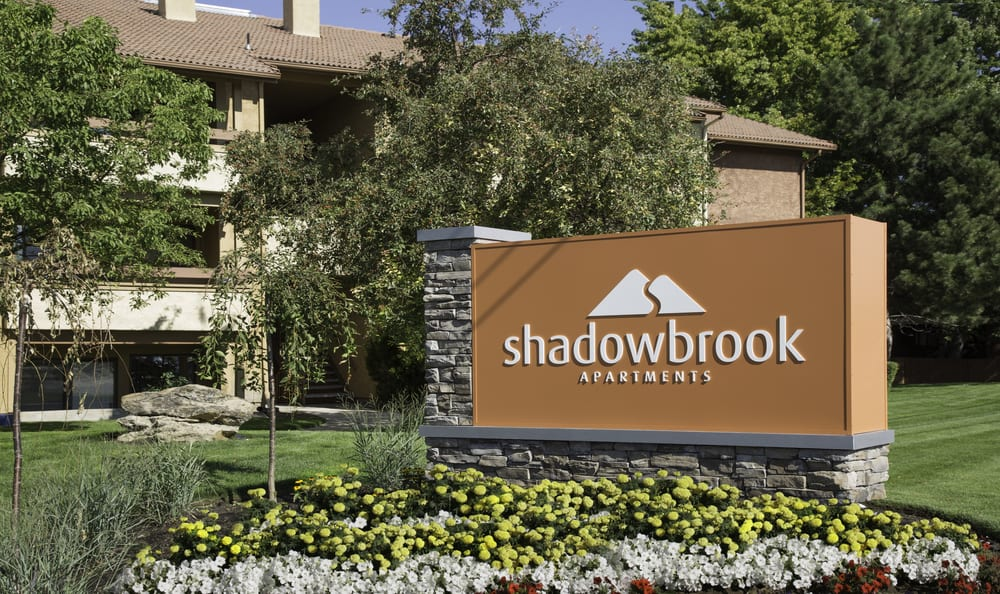 Shadowbrook Apartments signage