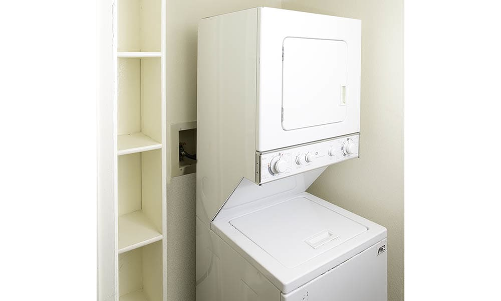 Washer and dryer combo unit at Shadowbrook Apartments