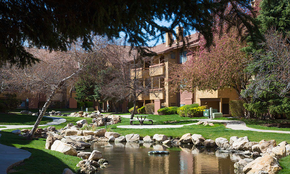 Outdoor view of Shadowbrook Apartments's buildings