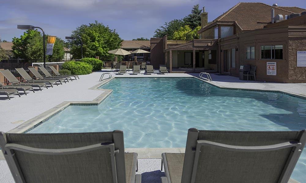 Community pool at Shadowbrook Apartments
