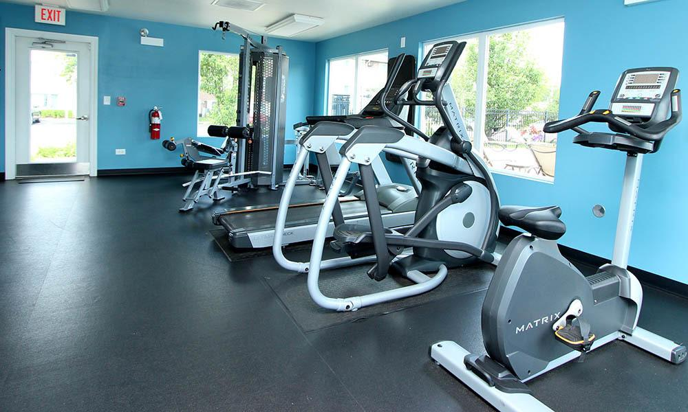 State Of The Art Fitness Center At West Line Apartments in Hanover Park, Illinois