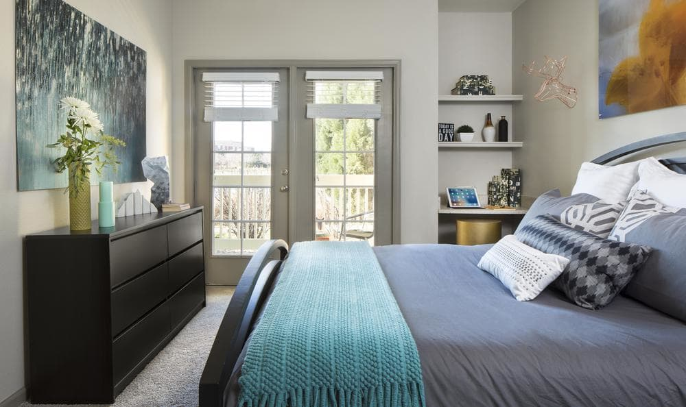Bedroom at Gateway Park Apartments in Denver