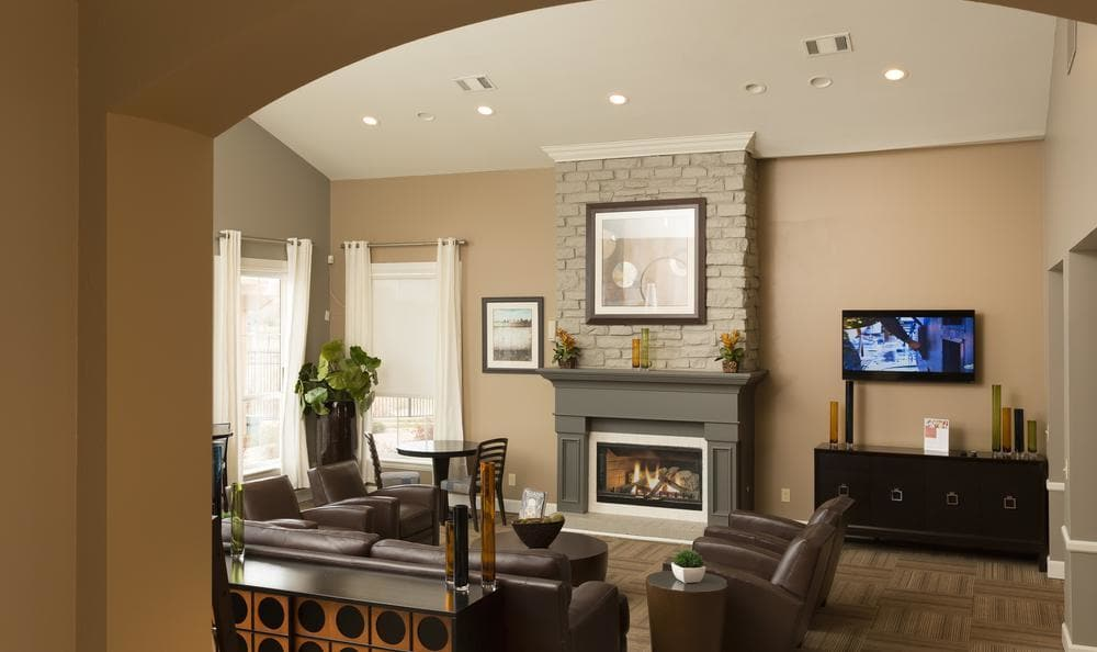 Clubhouse Living Room at Gateway Park Apartments in Denver, CO