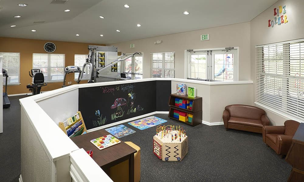 Children's area in the clubhouse at Westridge Apartments in Aurora, CO