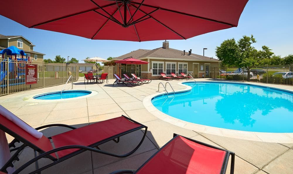 Pool Chairs at Westridge Apartments in Aurora, CO