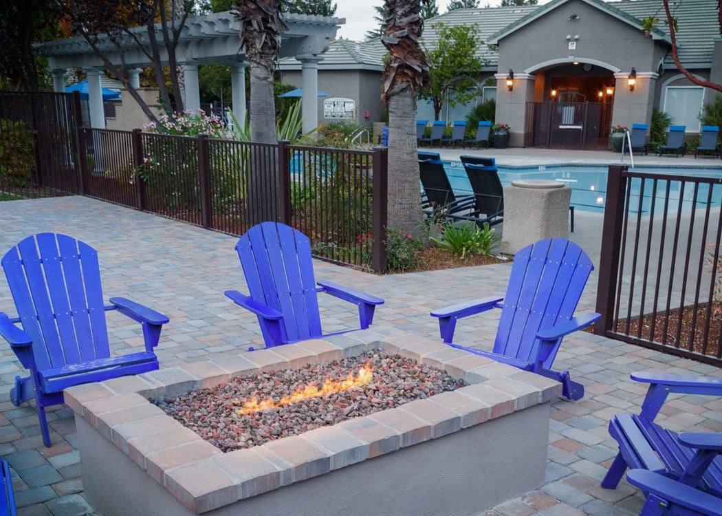 Community Firepit at Hawthorn Village Apartments in Napa,CA