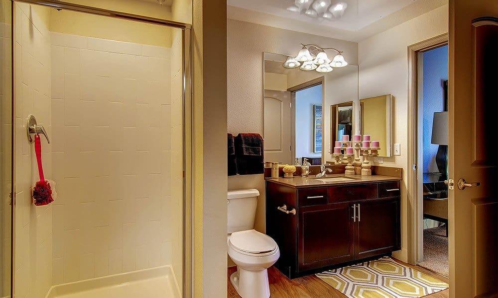 Bathroom at M2 Apartments