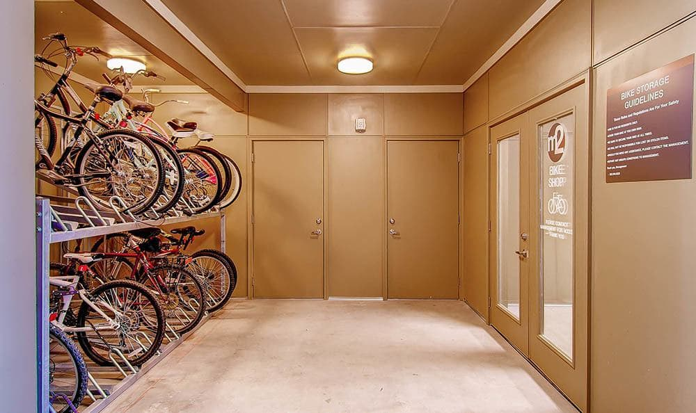 Bike Storage at M2 Apartments in Denver, CO
