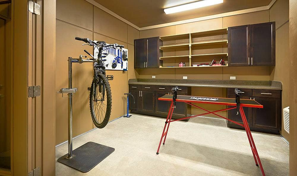 Bike shop at M2 Apartments in Denver, CO