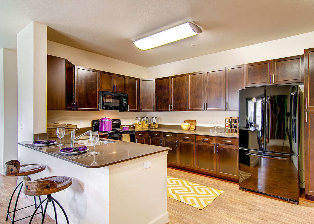Kitchen at M2 Apartments in Denver,CO
