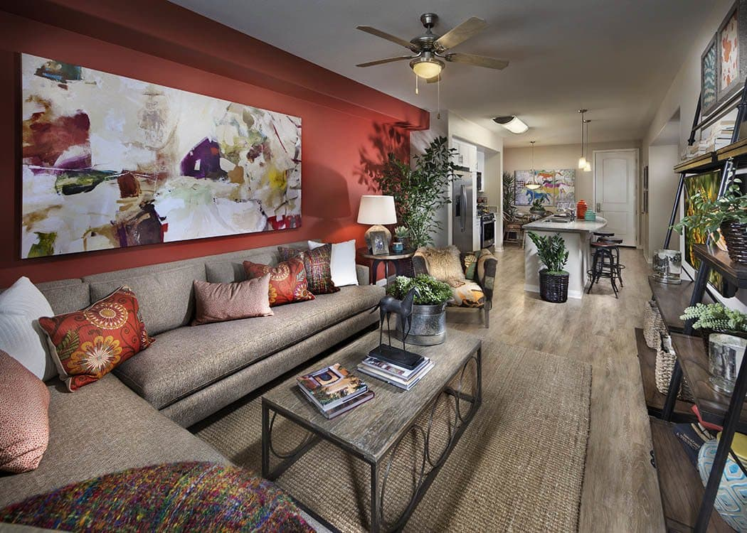 Living room at Palisades Sierra Del Oro in Corona,CA
