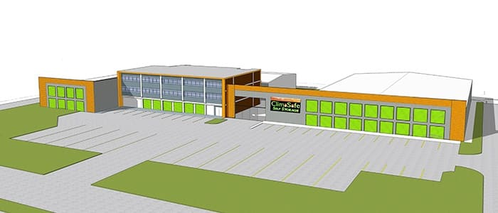Artist's rendering of the completed project.