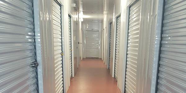 Interior storage units at Reynolda Storage
