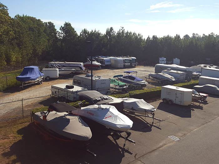 RV parking at Storage & Business Centre of Tega Cay