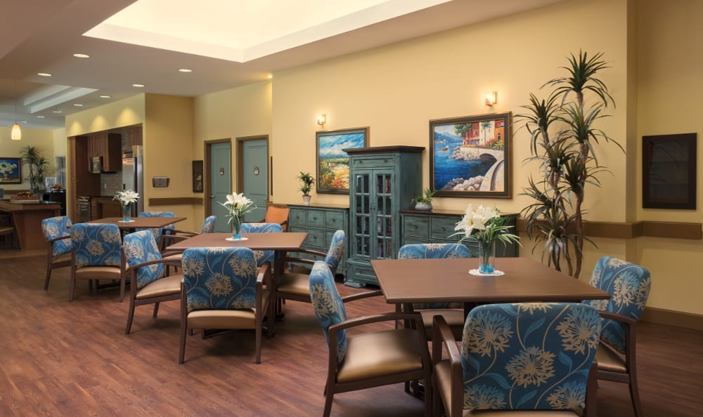 Dining room at Scottsdale Memory Care
