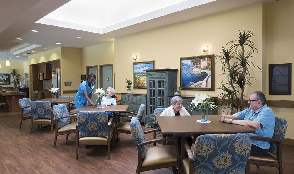 Dining room at Chandler Memory Care