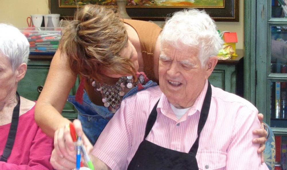 Artsy Smartsy Art class at Scottsdale Memory Care