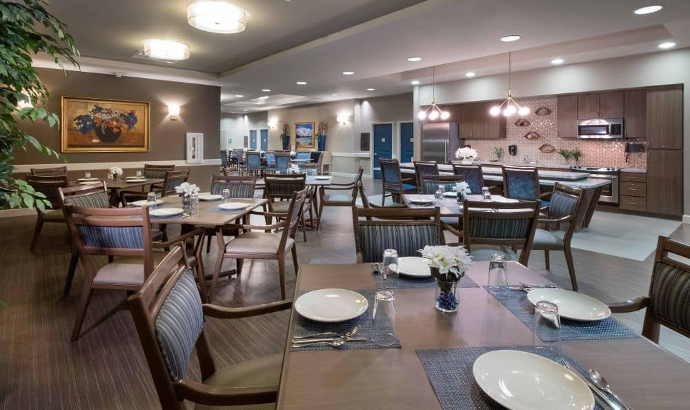 Dining Room At Summerlin Memory Care