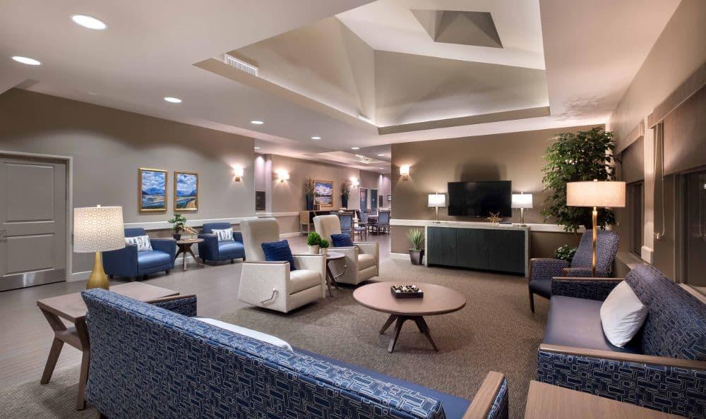 Tv room At Summerlin Memory Care