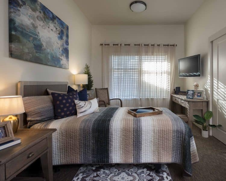 Bedroom at Avenir Memory Care at Summerlin