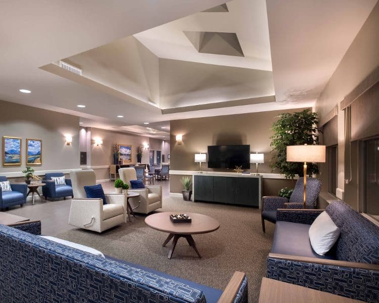 Tv room at Avenir Memory Care at Summerlin