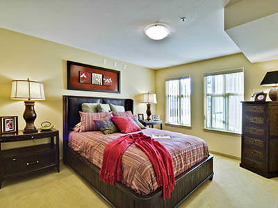 Bedroom at Pacifica Retirement Living