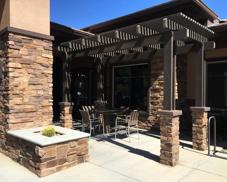 Patio at Scottsdale Memory Care