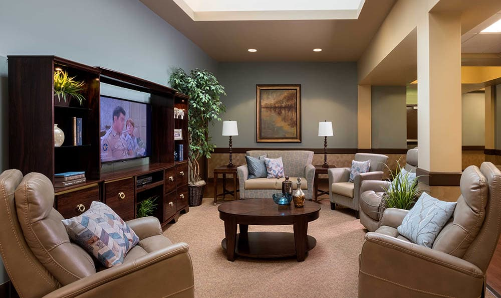 Tv Area At Scottsdale Memory Care
