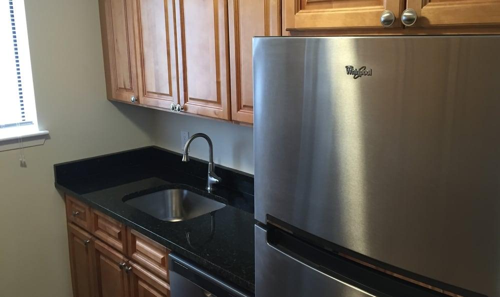 Renovated kitchen at Briar Knoll