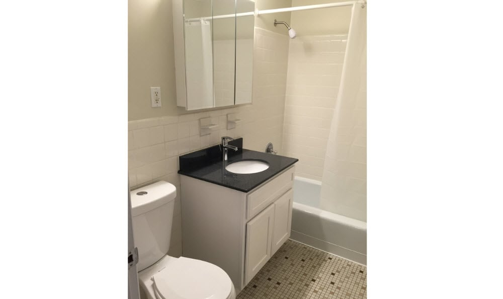 Renovated Bathroom at Summit and Birch Hill Apartments