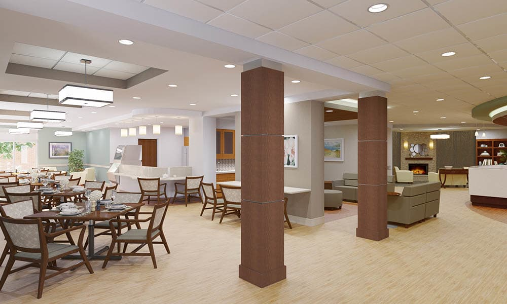 Dining Area at Village Point Rehabilitation & Healthcare in Monroe Township, NJ