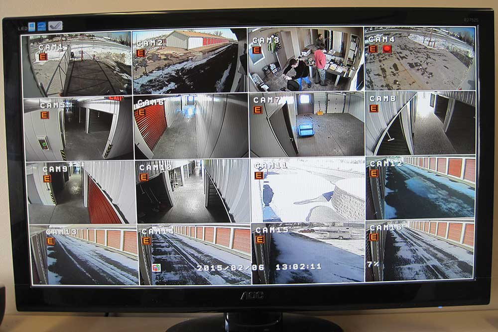 Five Star Storage offers 24-hour surveillance