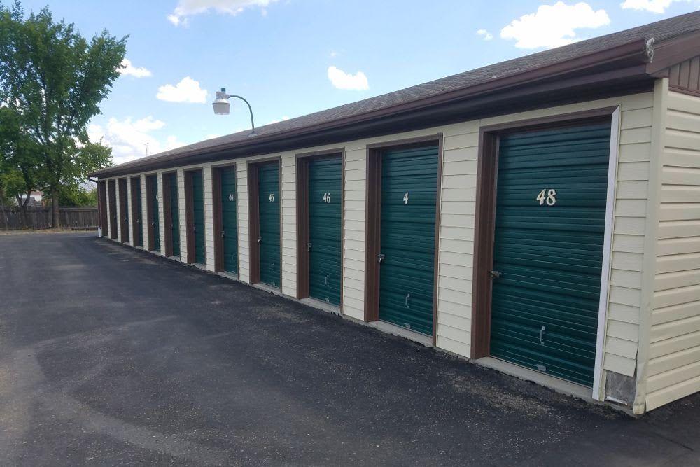 Five Star Storage exterior storage units in Fargo