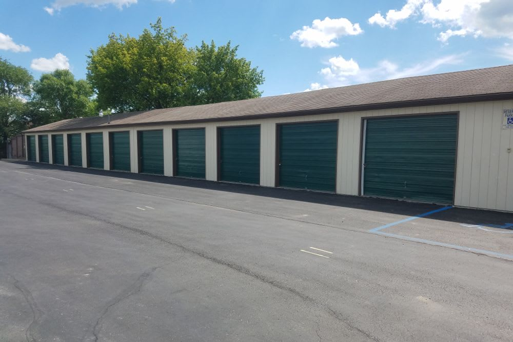 Storage facility exterior storage units at Five Star Storage