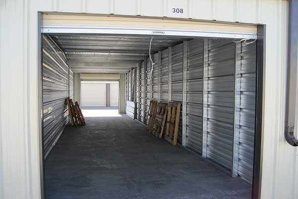 A drive-thru unit at Five Star Storage.