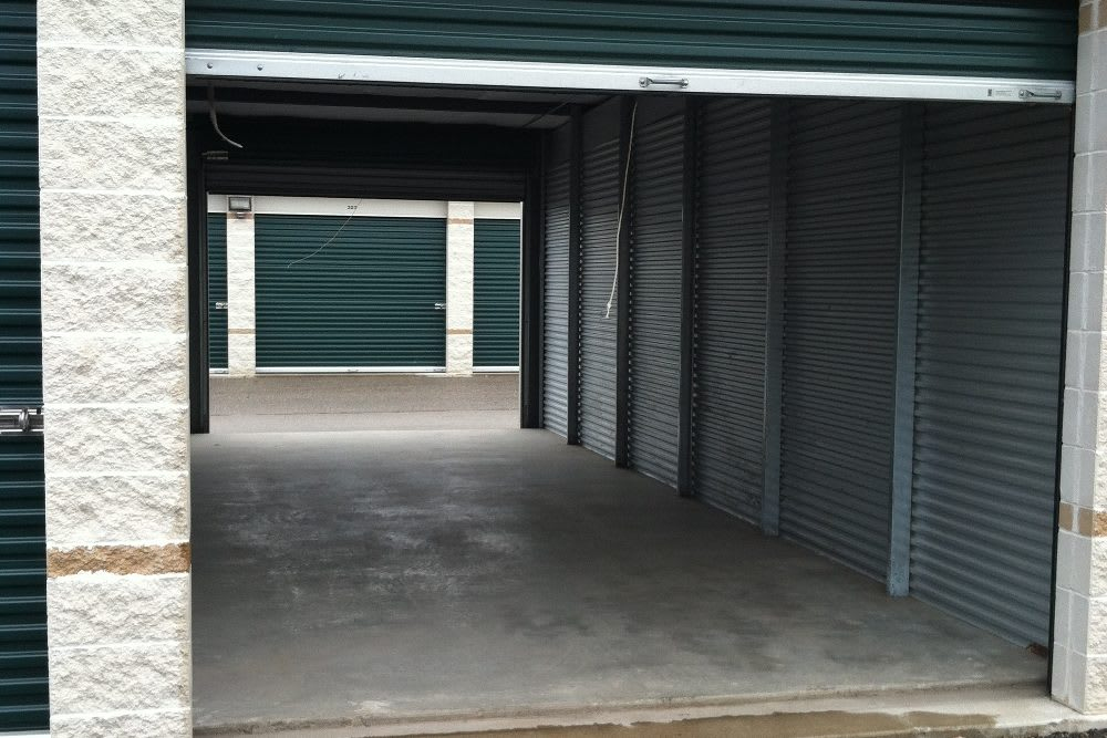 Five Star Storage offers drive-through units.