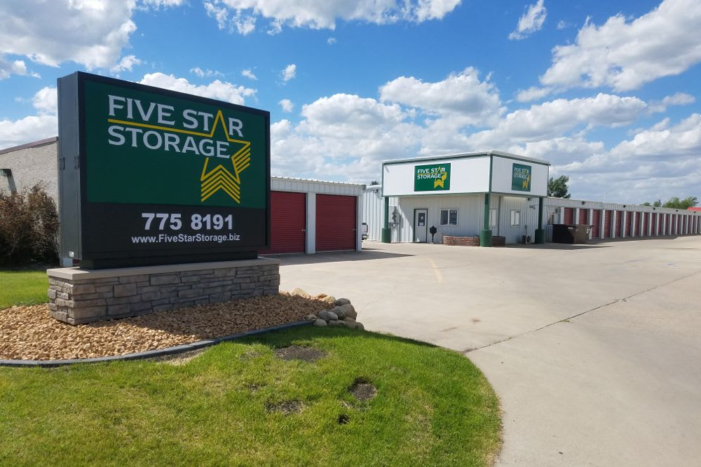 Exterior view of Five Star Storage