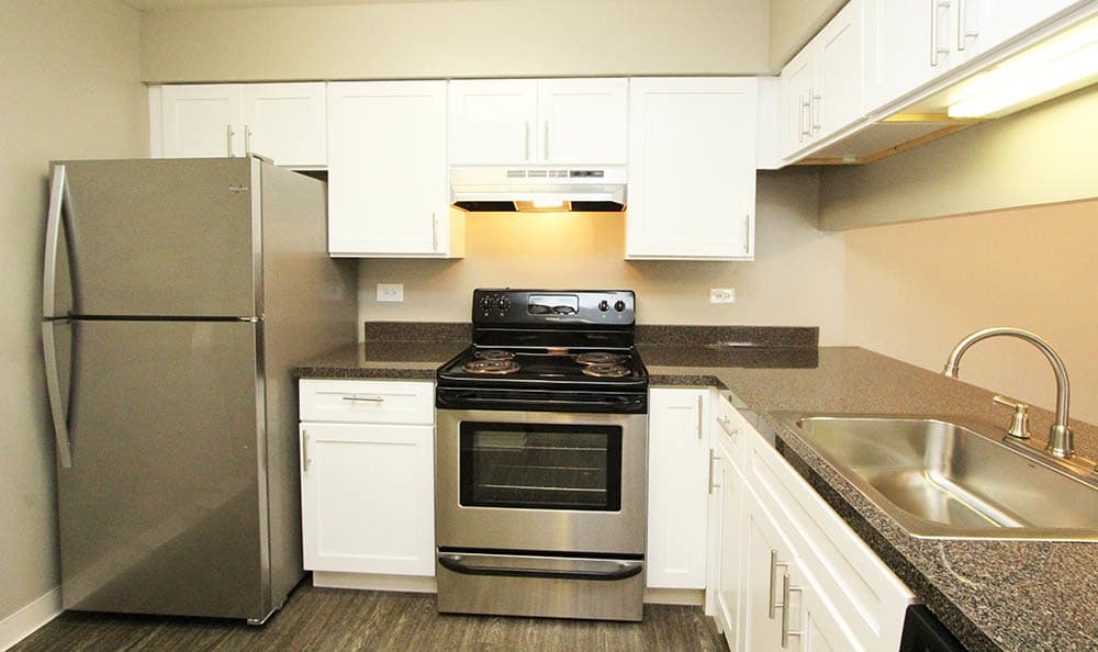 Kitchen at Lakeside Apartments
