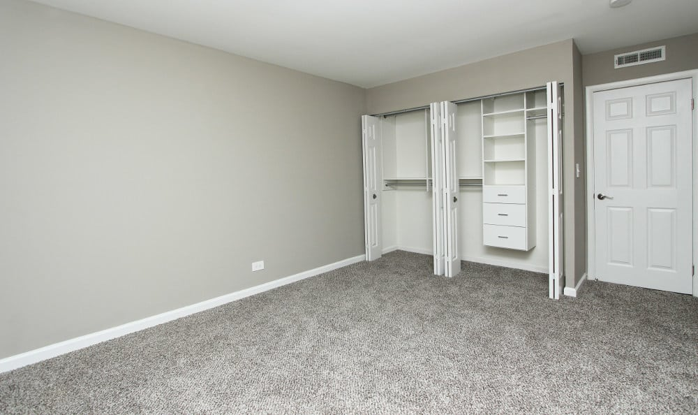 Bedroom and closet at Cypress Place