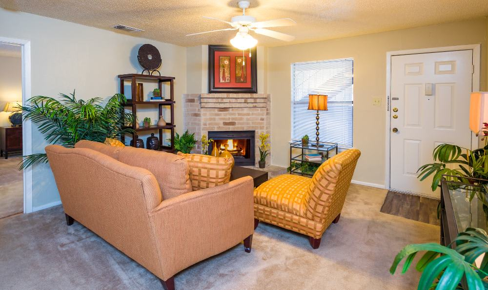 Living room at Woods of Elm Creek in San Antonio